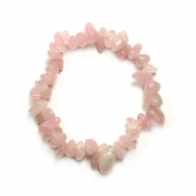 Rose Quartz Large Smooth Premium Chip Bracelet
